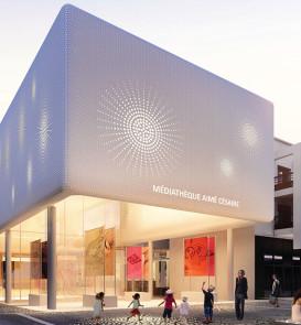 Mediatheque Aime Cesair par ArchiZ architecture